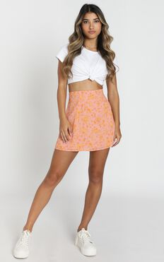 Only Offer Skirt In Pink Floral