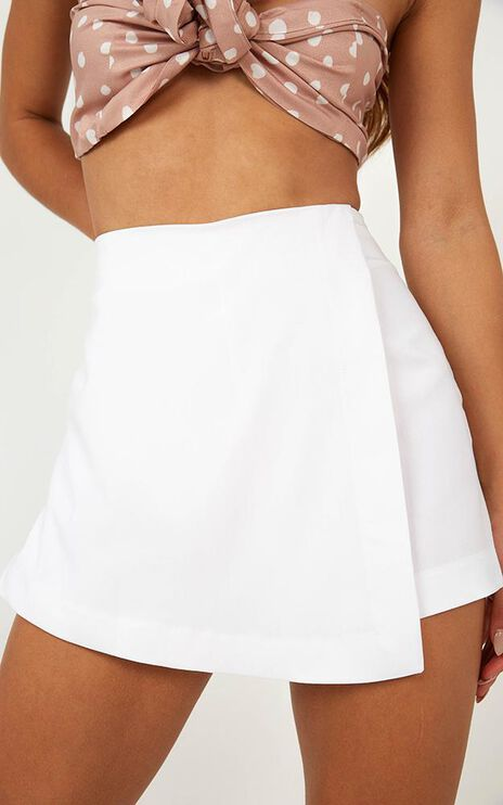 Never Let You Go Skort In White
