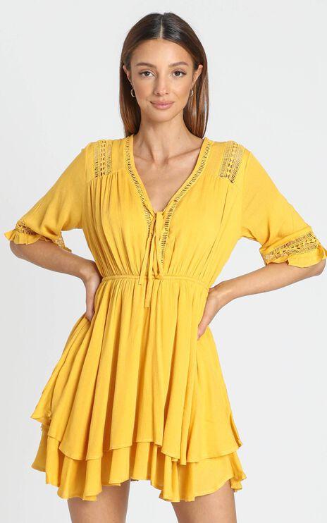 Rise Again Dress in Mustard