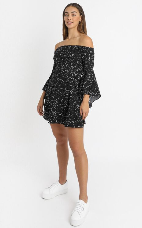 Break My Heart Dress in Black Spot