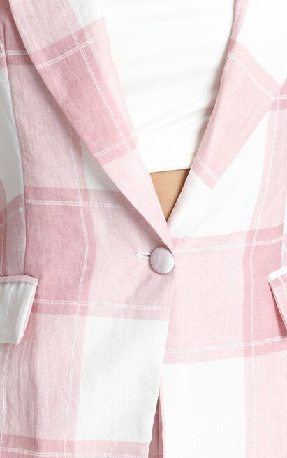Growing Stronger Blazer in blush check - 20 (XXXXL), Blush, hi-res image number null