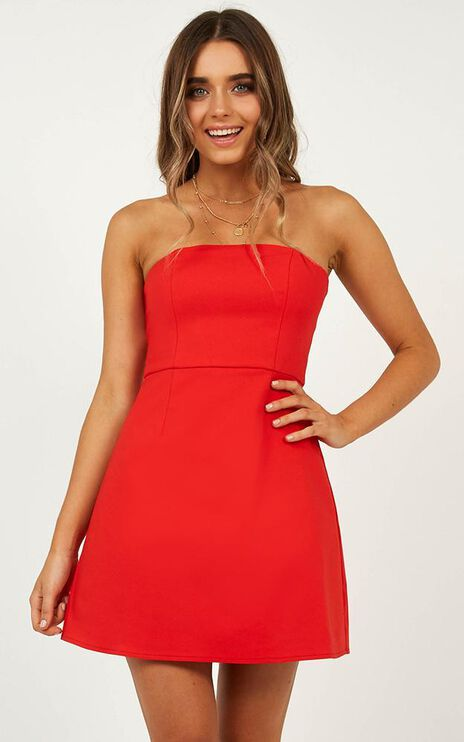 Cover Star Dress In Red