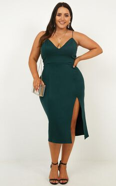 Big Ideas Dress In Emerald