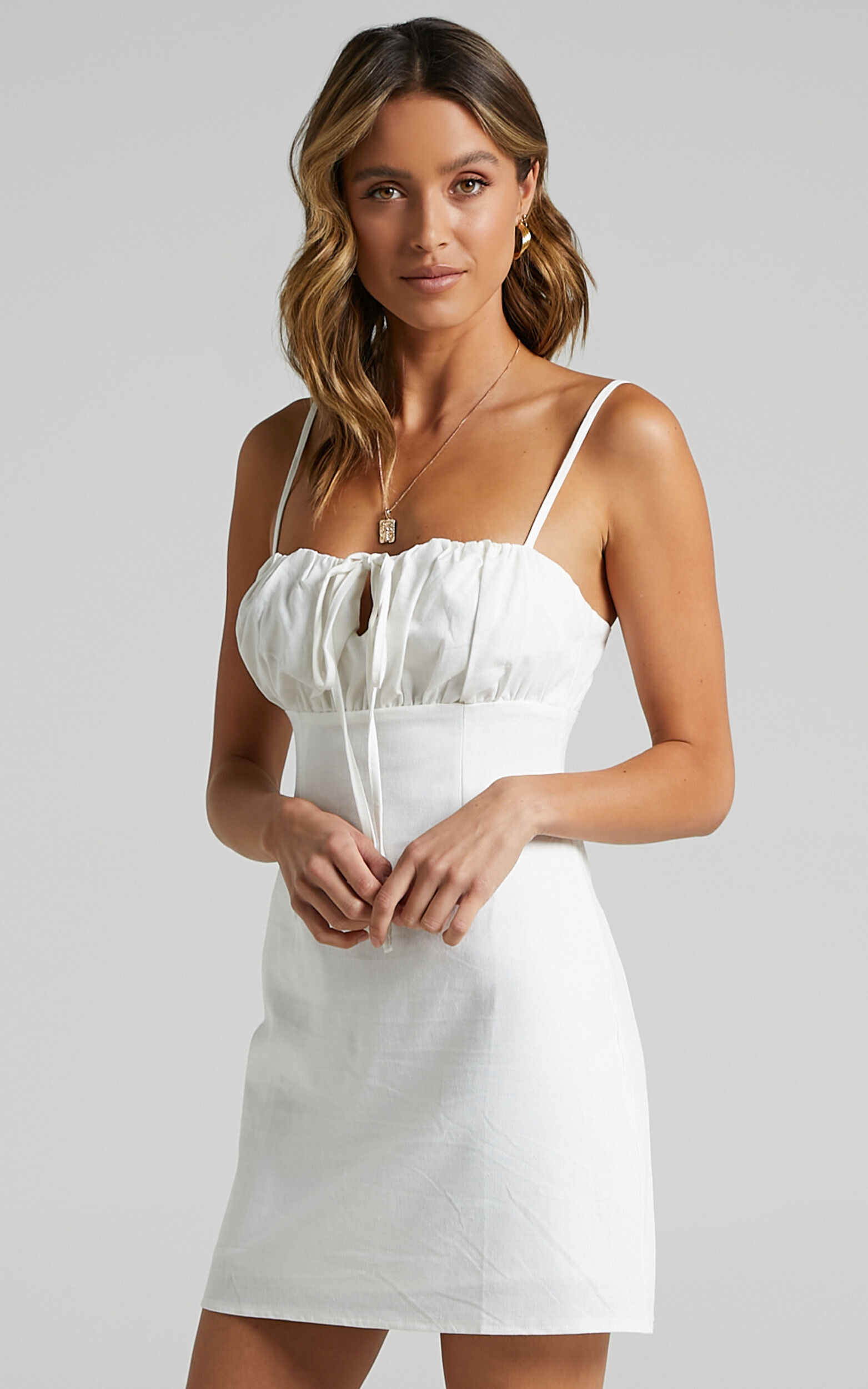 Break Free With Me Dress in White Linen Look - 20, WHT2, super-hi-res image number null