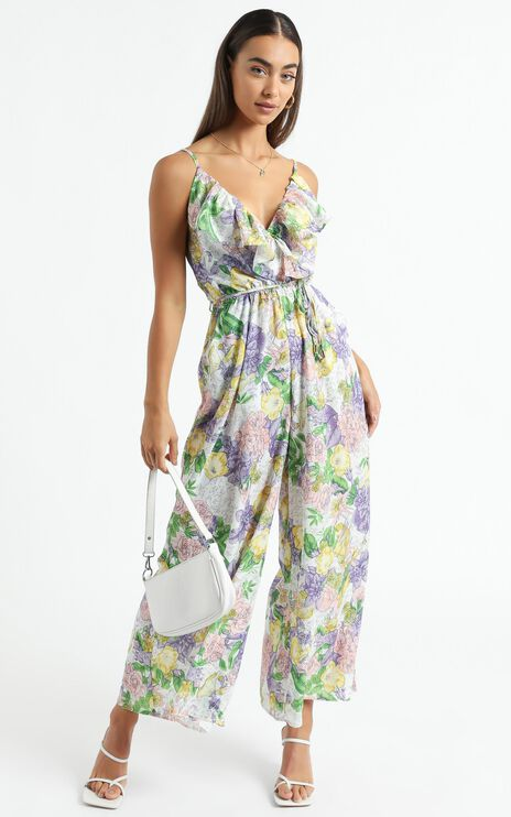 Aggie Jumpsuit in Multi Floral Print