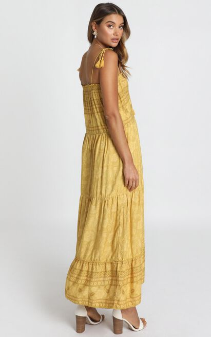 Elise Dress in mustard - 8 (S), Mustard, hi-res image number null
