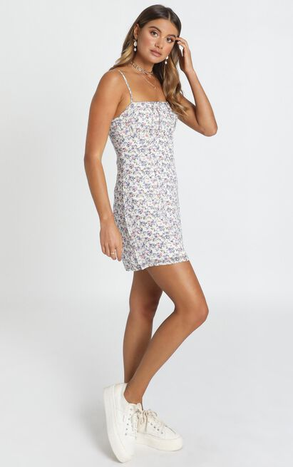 Kelby Mini Dress in lilac floral - 12 (L), Purple, hi-res image number null