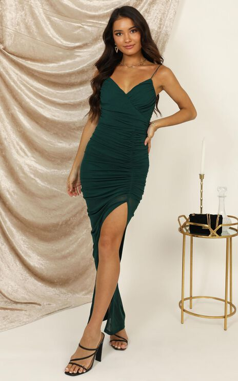 Turn Back Dress In Emerald