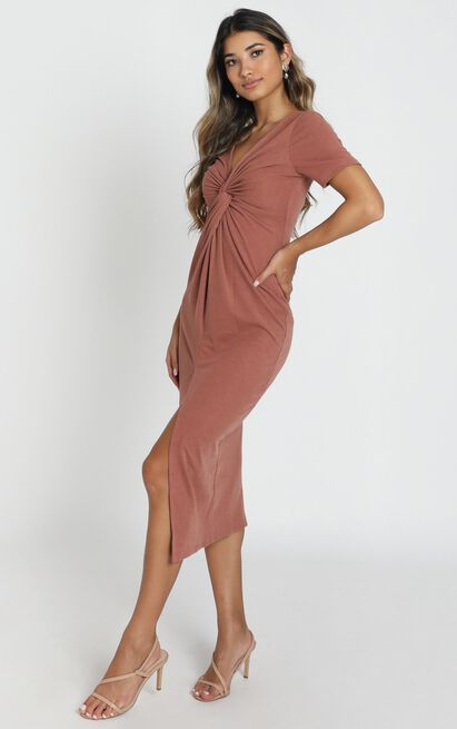Press Rewind Dress in dusty rose - 16 (XXL), Blush, hi-res image number null
