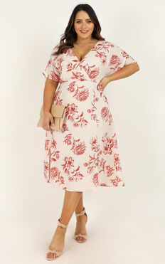 Always Timely Dress In Cream Floral