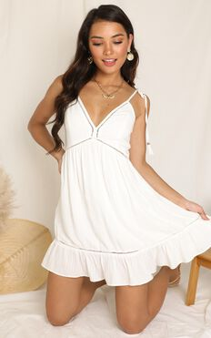 Snow Cone Dress In White
