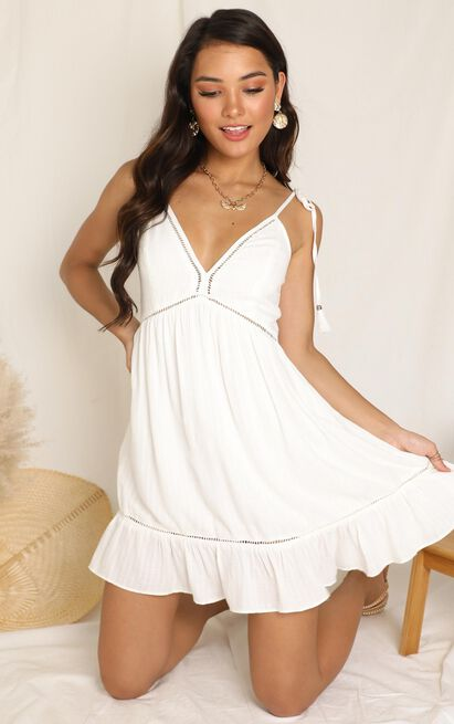 Snow Cone Dress In White - 16 (XXL), White, hi-res image number null