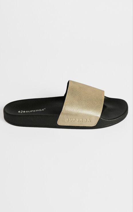 Superga - 1908 Syncrocow Slides in Gold