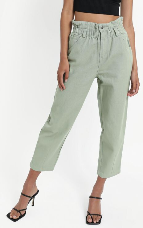 Maygan Jeans in Sage