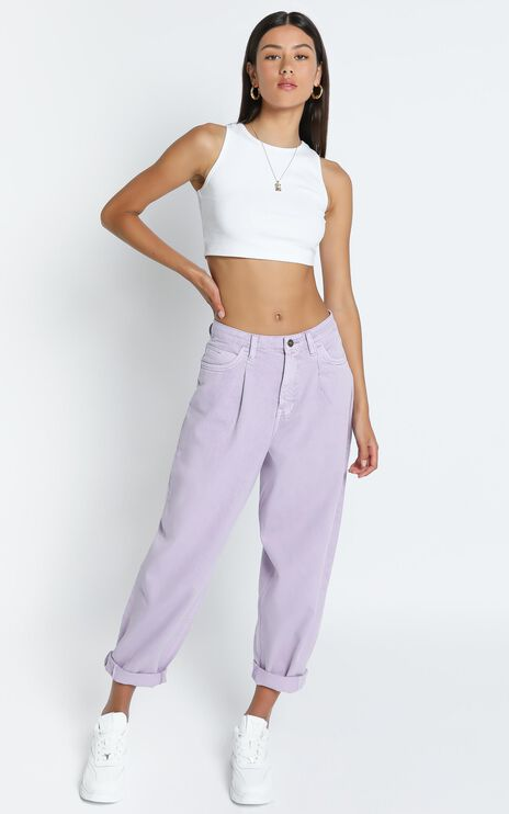 Lioness - On My Way Denim Jean in Lilac