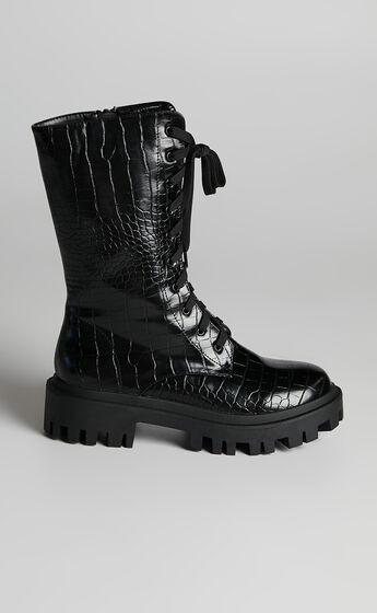 Public Desire - Beau Boots in Black Croc