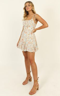 Paulina Playsuit In Multi Floral