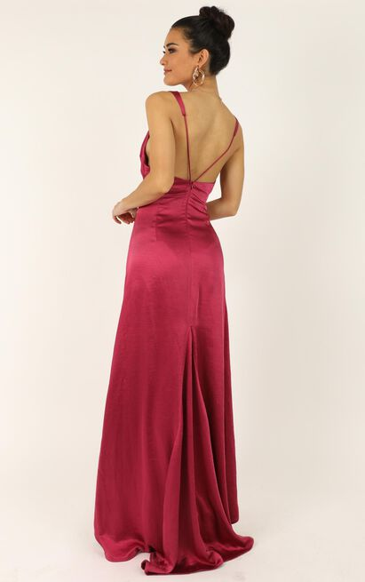 When The Lights Are Low Dress in raspberry satin - 14 (XL), Pink, hi-res image number null