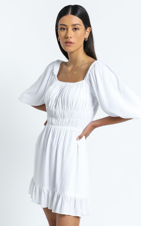Theodora Dress in White