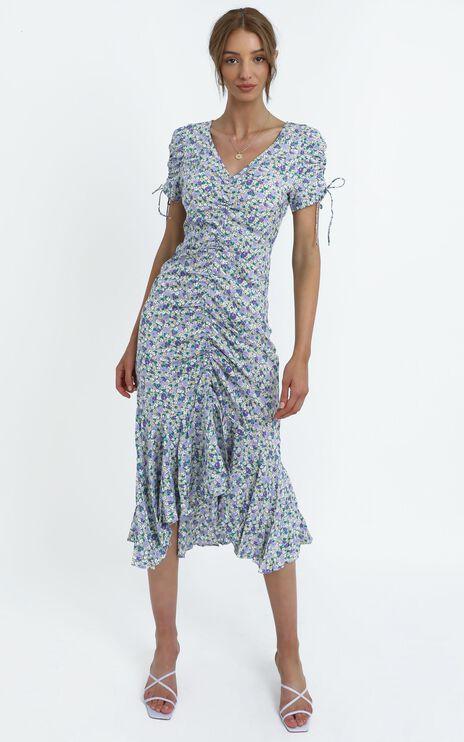 Vienna Dress in Blue Floral