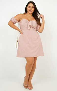 The Sweet Escape Dress In Blush Spot