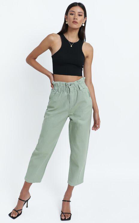 Maygan Jeans in Sage