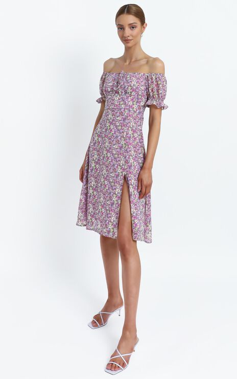 Starley Dress in Pink Floral
