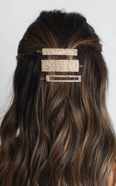 I Choose This Hair Clip Pack In Gold