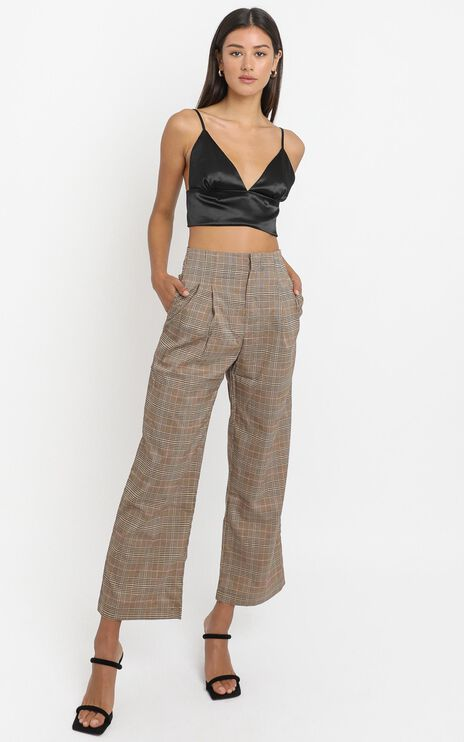 Kimmy Pants in Beige Check