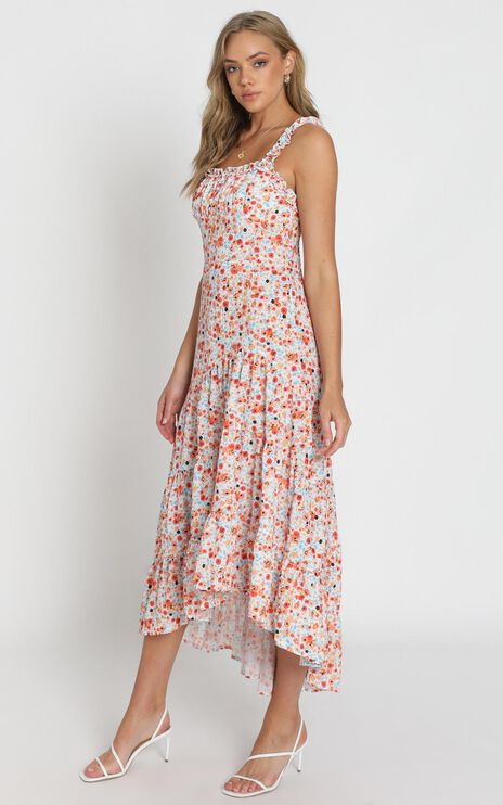 Biggest Heart Dress in Orange Floral