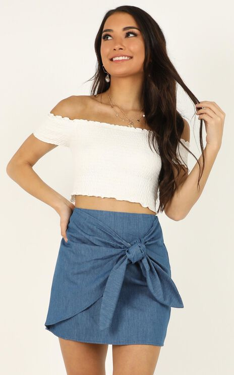 Carry Me On Skirt In Chambray