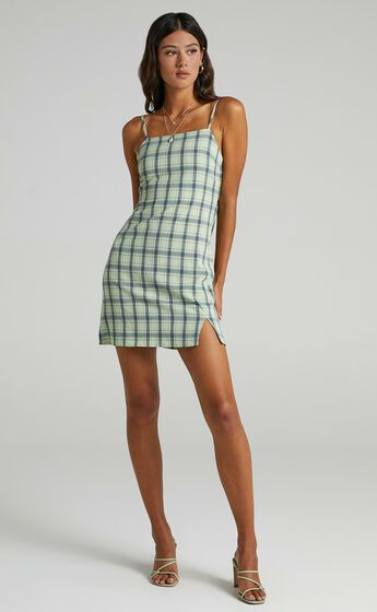 Maryssa Dress in Green Check