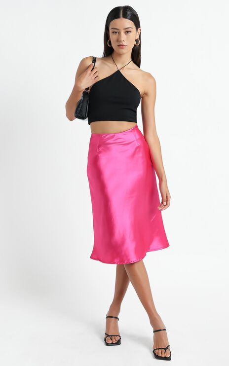 Creating Art Skirt in Hot Pink