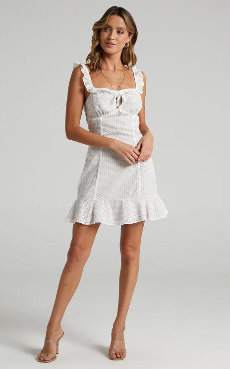 Brigitta Dress in White Floral
