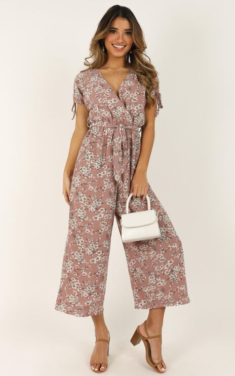 Calm In The Chaos Jumpsuit In Dusty Rose
