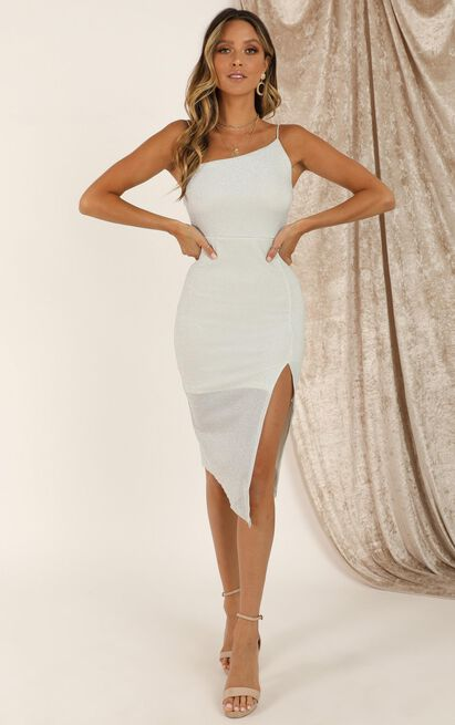 Life Changing dress in silver lurex - 16 (XXL), Silver, hi-res image number null