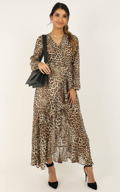 Trust In You dress in leopard print - 14 (XL), Brown, hi-res image number null
