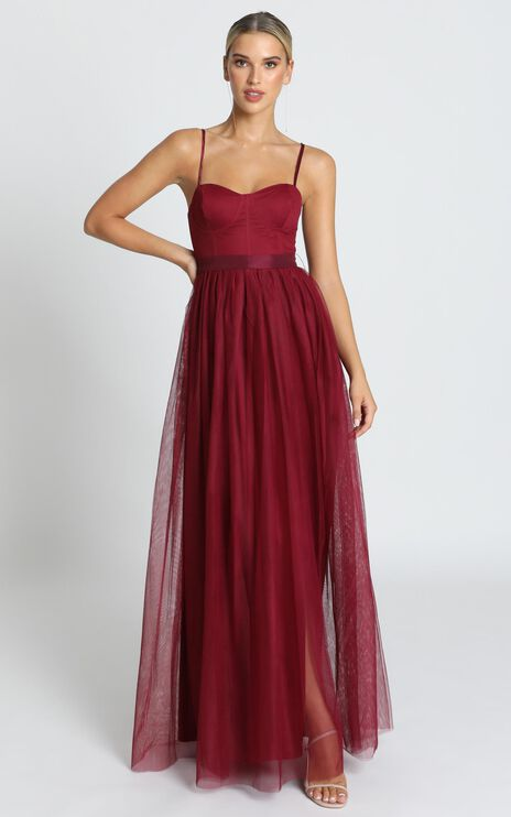 At The Altar Dress In Wine