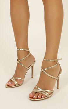 Billini - Tulum Heels In Light Gold Metallic