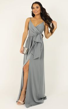 Revolve Around Me Dress In Dusty Blue