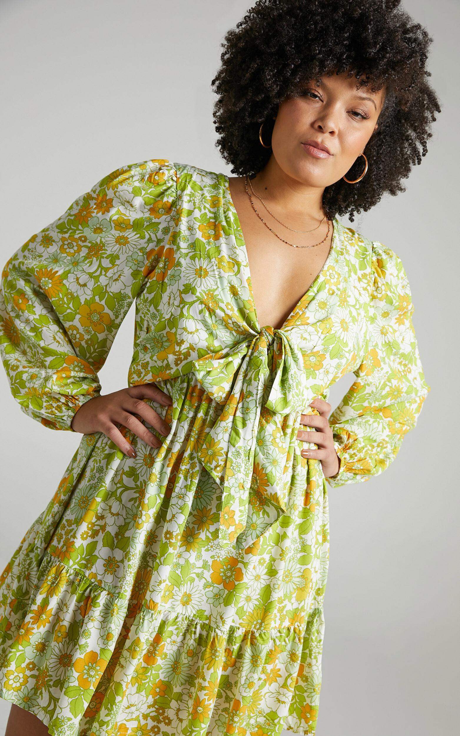 Sabella Rayon Dress in Harmony Floral - 04, MLT1, super-hi-res image number null