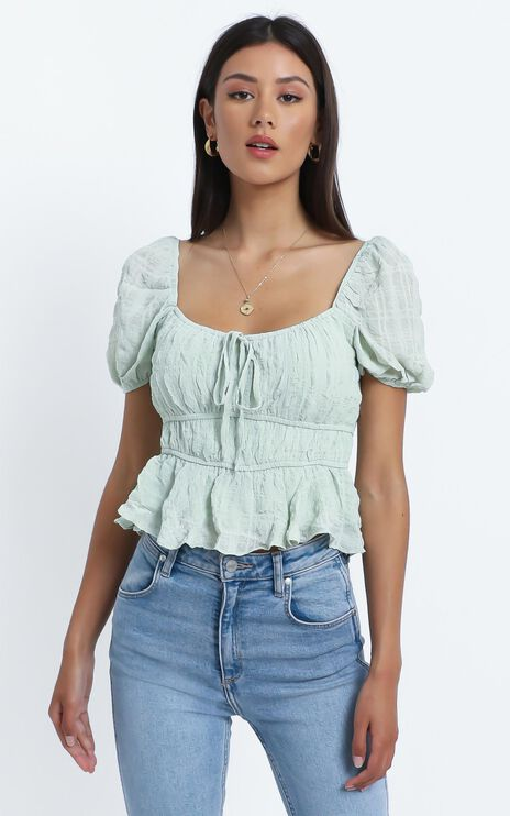 Violette Top in Mint