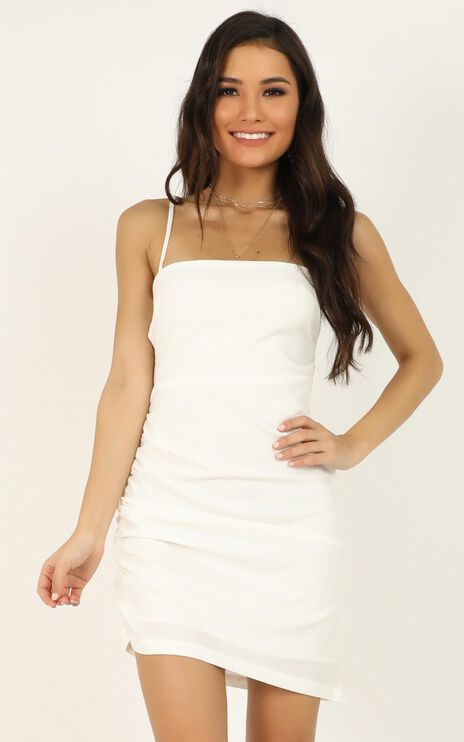 Closer To Me dress in white