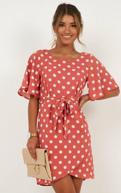 Only On Camera Dress In Rose Spot