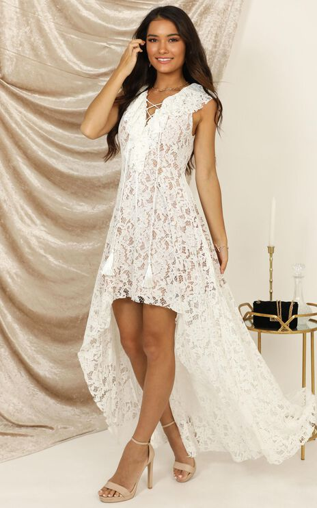 Better Off With You Dress In White Lace