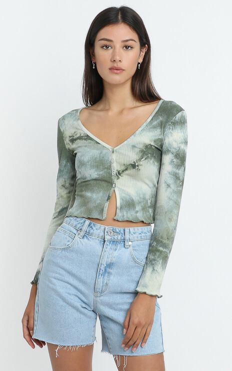 Nimi Top in Forest Tie Dye
