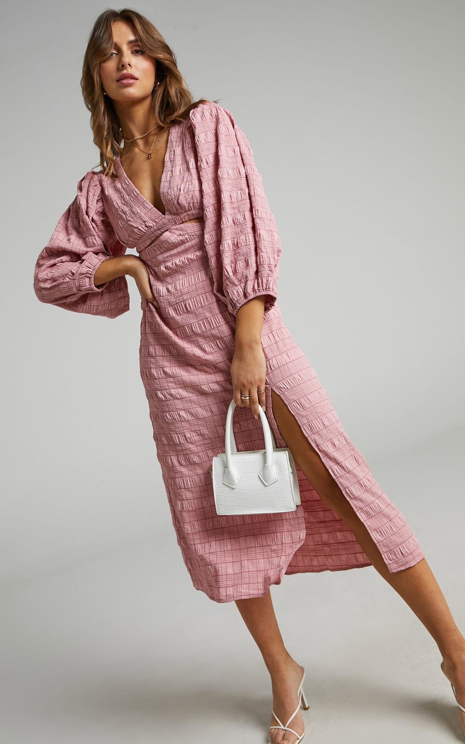 Tabatha Dress in Pink Check - 06, PNK1, super-hi-res image number null