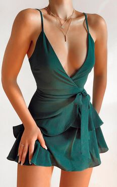 Feels Like Love Dress in Forest Green