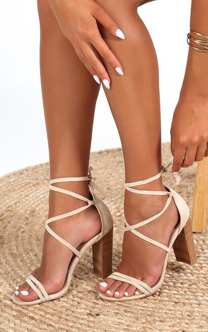 Showpo x Billini - Jace heels in nude micro - 10, Beige, hi-res image number null