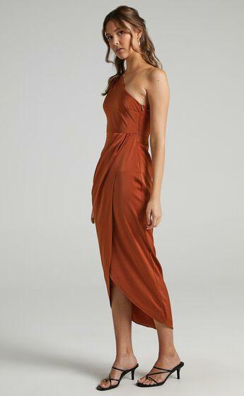 Felt So Happy Dress in Copper